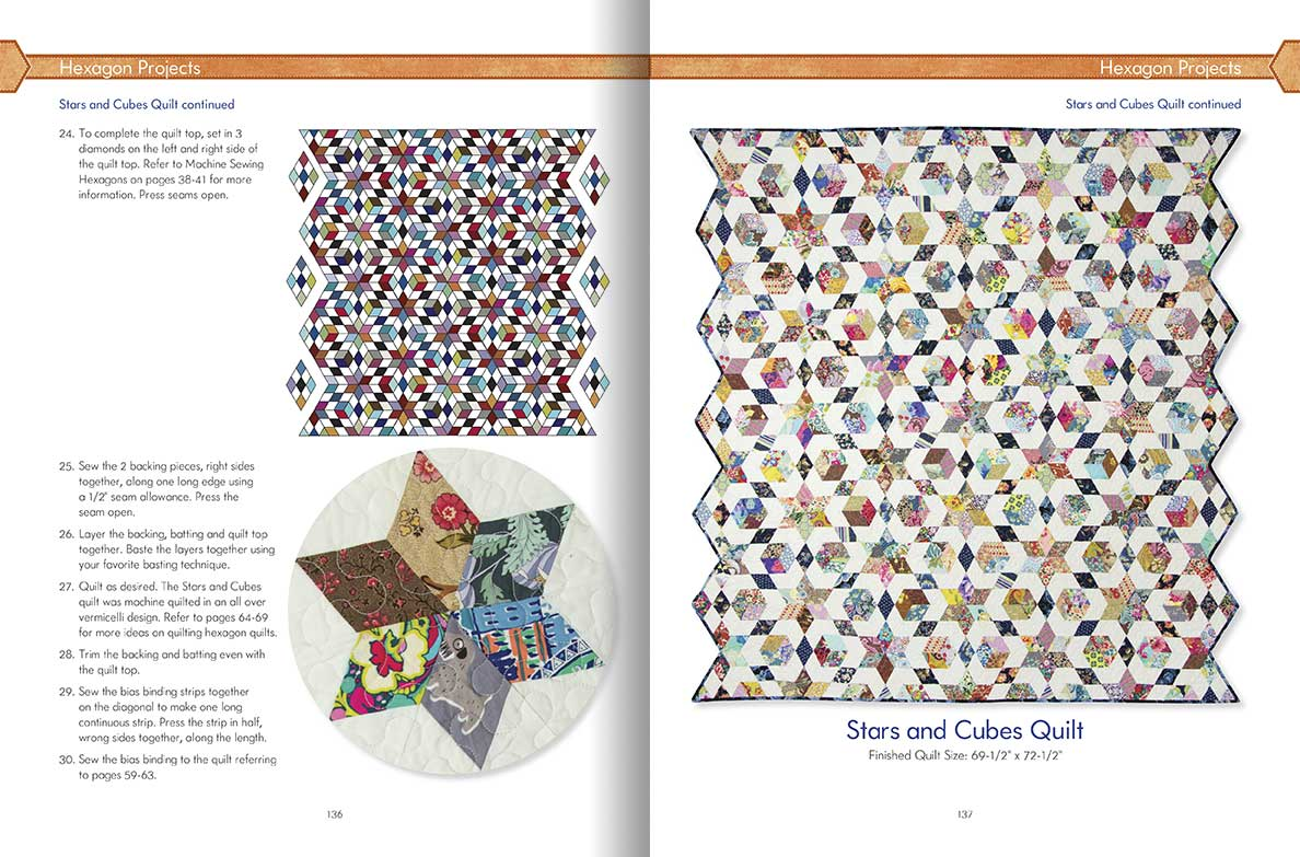 Hexagon Happenings - Carolyn Forster\'s Quilting-On-The-Go