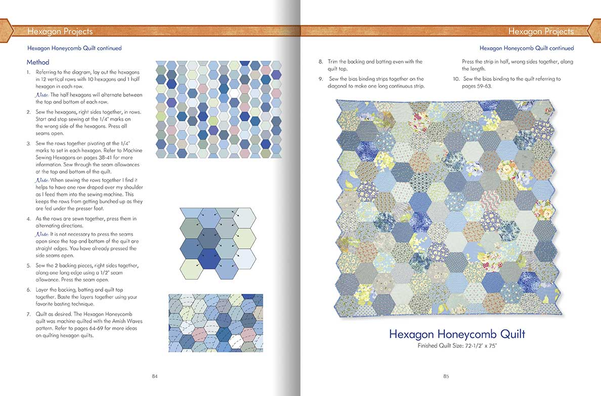 Hexagon Happenings Carolyn Forster S Quilting On The Go