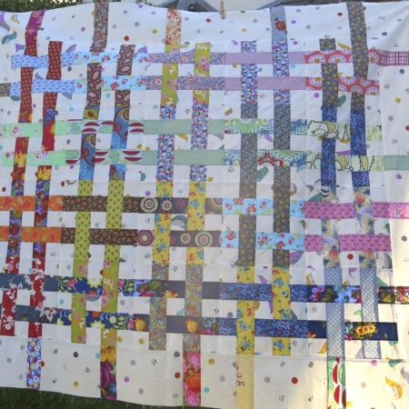 Woven-Scrappy-Jelly-Roll-Quilt